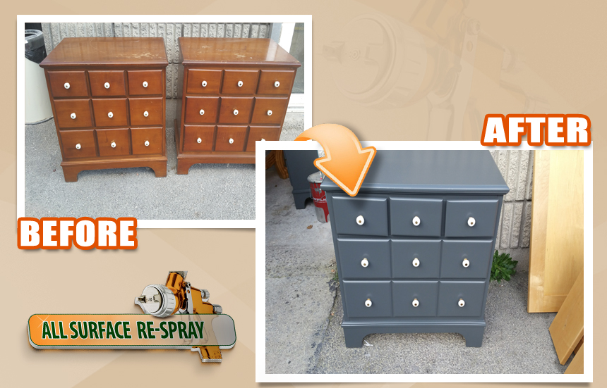 furniture by respraying